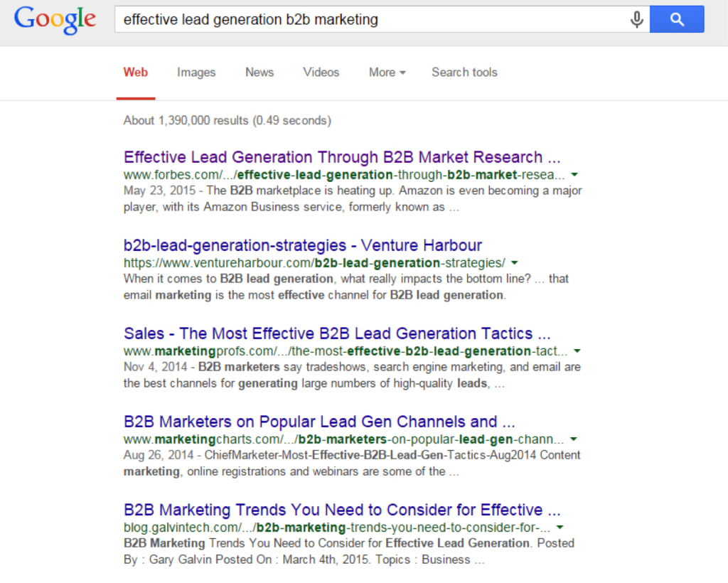 He enjoys the top organic spot for a high-value keyword...